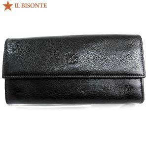 イルビゾンテ 財布 IL BISONTE 長財布 二つ折り C0918 P 153 ブラック|pre-ma