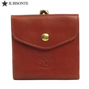 イルビゾンテ 財布 IL BISONTE がま口小銭入れ付 二つ折り財布 C0423 P 214 ブラウン アウトレット特価-S2|pre-ma
