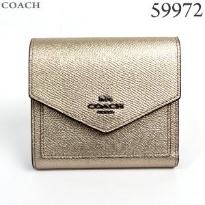 コーチ COACH  財布 ショート 二つ折り 59972 GMO3Z PLATINUM/シャンパンゴールド 新品|pre-ma