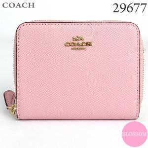 コーチ COACH  財布 二つ折り ラウンドファスナー 29677 GDAOM BLOSSOM/ピンク 新品|pre-ma
