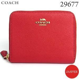 コーチ COACH  財布 二つ折り ラウンドファスナー 29677 LINP0 JASPER/レッド 新品|pre-ma