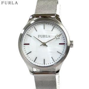 フルラ 腕時計 レディース 4253119504  FURLA LIKE 32mm ホワイトシェル/ シルバー ステンレス メッシュ|pre-ma