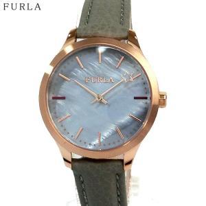 フルラ 腕時計 レディース 4251119507  FURLA LIKE 32mm ホワイトシェル/ ローズゴールド グレイッシュレザー|pre-ma