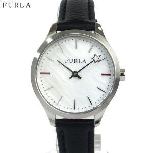 フルラ 腕時計 レディース 4251119508  FURLA LIKE 32mm ホワイトシェル/ シルバー ブラックレザー|pre-ma