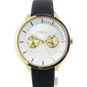フルラ 腕時計 レディース 4251102517 38mm  FURLA METROPOLIS イエローゴールド/ブラック レザー|pre-ma