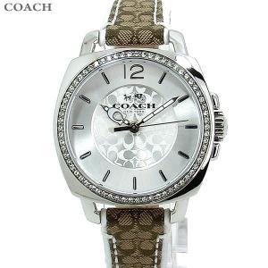 コーチ COACH  レディース腕時計 14502416 ボーイフレンド 34mm シグネチャー ホワイト/ブラウン レザー 新品特価セール|pre-ma