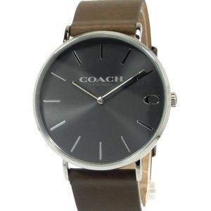 コーチ COACH  メンズ 腕時計 14602153 ブラック/カーキレザー 40mm【アウトレット・新品訳あり】|pre-ma