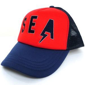 ロンハーマン Ron Herman SEA Cap メッシュ キャップ RED NV/レッド×ネイビー RHC フリーサイズ 25210-011 定形外郵便可|pre-ma
