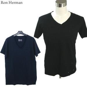 ロンハーマン Ron Herman 8100 Vネック Tシャツ ダメージ加工 メンズ RHC 99209-04 コットン100% 決算SSP|pre-ma