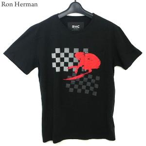 ロンハーマン Ron Herman Tシャツ Check it Tee メンズ  ブラック 25209-0182 RHC コットン100% MADE IN USA|pre-ma