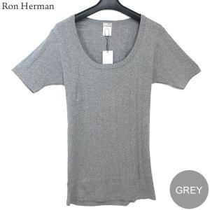 ロンハーマン Ron Herman Uネック Tシャツ カットソー スリム U-NECK メンズ  グレー  RHC 99209-07 決算SSP|pre-ma