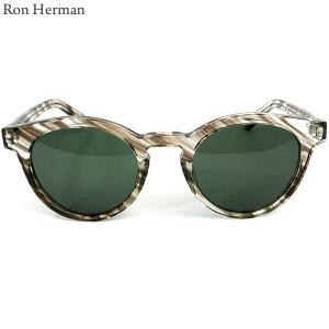 ロンハーマン Ron Herman × 金子眼鏡 サングラス CLASSIC BOSTON メンズ 27213-004 BROWN ブラウン|pre-ma