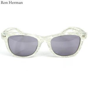 ロンハーマン Ron Herman × 金子眼鏡 サングラス WAY FARER メンズ 26213-010 ホワイト|pre-ma
