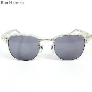 ロンハーマン Ron Herman × 金子眼鏡 サングラス CLUB MASTER メンズ 26213-011 ホワイト|pre-ma