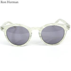 ロンハーマン Ron Herman × 金子眼鏡 サングラス CLASSIC BOSTON メンズ 26213-012 ホワイト|pre-ma