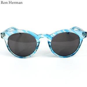 ロンハーマン Ron Herman × 金子眼鏡 サングラス CLASSIC BOSTON メンズ 25213-028 IT BLUE ブルー 決算SSP|pre-ma