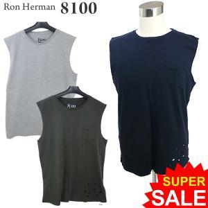 ロンハーマン Ron Herman 8100 ノースリーブ Tシャツ/ タンクトップ ダメージ加工 RHC 99209-013 決算SSP|pre-ma