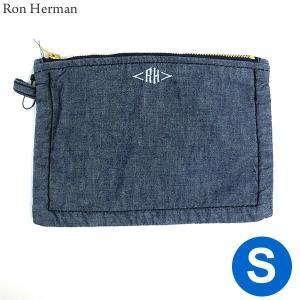 ロンハーマン Ron Herman ポーチ スモール Pouch (S) Chambray デニムカラー 28531-044|pre-ma