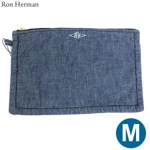 ロンハーマン Ron Herman ポーチ ミディアム Pouch (M) Chambray デニムカラー 28531-045|pre-ma
