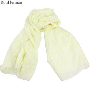 ロンハーマン Ron Herman ストール 2311000013 Dot Yellow コットン/レーヨン/シルク 大判 174x89cm イタリア製|pre-ma