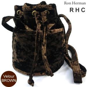 ロンハーマン Ron Herman RHC ショルダーバッグ クロスボディ Velour Shoulder Bag ベロア ブラウン 26111-322|pre-ma
