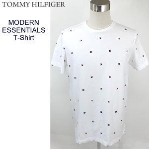トミーヒルフィガー TOMMY HILFIGER Tシャツ メンズ MODERN ESSENTIALS T-SHIRT 09T3346 121 LAIT ホワイト 決算SSP|pre-ma