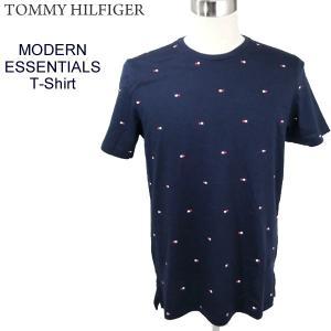 トミーヒルフィガー TOMMY HILFIGER Tシャツ メンズ MODERN ESSENTIALS T-SHIRT 09T3346 410 ダークネイビー 定形外郵便は無料|pre-ma