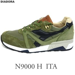 DIADORA HERITAGE ディアドラ ヘリテージ スニーカー 172782 N9000 H ITA  C7637 オリーブ/ブラウン イタリア製 メンズ|pre-ma