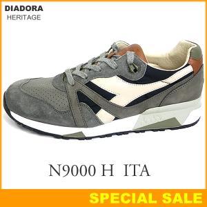 DIADORA HERITAGE ディアドラ ヘリテージ スニーカー 172782 N9000 H ITA  C7646 Coal/Bone Bwown イタリア製 メンズ|pre-ma