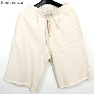 ハーマン HERMAN ショートパンツ スウェット 短パン メンズ  2320600221 オフホワイト/ナチュラル|pre-ma
