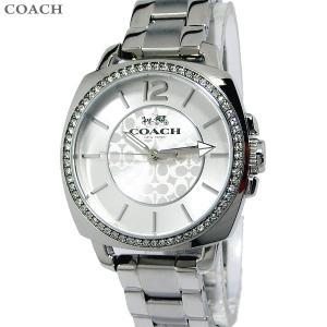 コーチ COACH  レディース腕時計 14502147 ボーイフレンド スモール 34mm シグネチャー シルバー ステンレス 新品|pre-ma