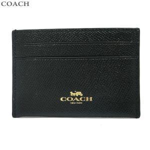 コーチ COACH カードケース CREDIT CARDCASE F57312 IMBLK ブラック レザー アウトレット|pre-ma