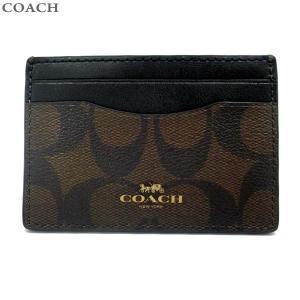 コーチ COACH カードケース CREDIT CARDCASE F63279 IMAA8 ダークブラウン/ブラック  アウトレット|pre-ma