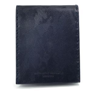 キャサリンハムネット  二つ折り財布 本革 レザー K50200-40 ネイビー  KATHARINE HAMNETT  現品限り 新品アウトレット|pre-ma