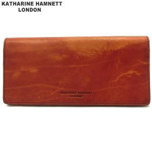 キャサリンハムネット 長財布 本革 レザー K59203-61-2 オレンジ KATHARINE HAMNETT  現品限り 新品アウトレット|pre-ma