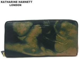 キャサリンハムネット 長財布 ラウンドジップ 本革 レザー K59204-41 KATHARINE HAMNETT  現品限り 新品アウトレット|pre-ma