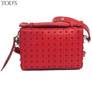 トッズ TOD'S ショルダーバッグ クロスボディ GOMMINI BAG MICRO  XBWDONH9000 RLX R401 RED レッド レディース 161682|pre-ma
