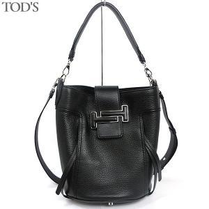 トッズ TOD'S ショルダーバッグ 2way DOUBLE T BUCKET BAG SMALL  XBWDOTK0200 K59 B999 NERO ブラック レディース 175763|pre-ma