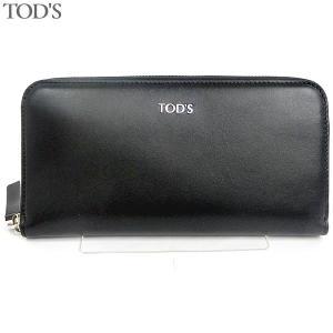 トッズ TOD'S 長財布 ラウンドジップ XAWENTA0400 XR0 4Q33 ブラック レディース 175845|pre-ma