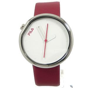 FILA フィラ 腕時計 38-161-001 ユニセックス 40mm レッドレザー 展示品アウトレットセール|pre-ma