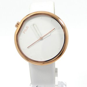 FILA フィラ 腕時計 38-161-002 ユニセックス 40mm ローズゴールド/ホワイトレザー 展示品アウトレットセール|pre-ma