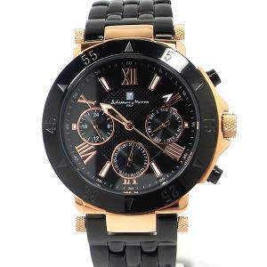 サルバトーレ・マーラ Salvatore Marra メンズ 腕時計 SM14118-PGBK デイデイト 【展示品アウトレット】|pre-ma