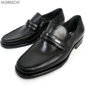 MORESCHI モレスキー  紳士靴 ローファー 幅広タイプ 21889 ブラック イタリア製  アウトレット|pre-ma