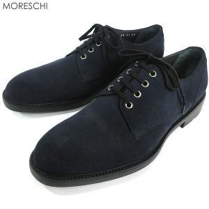 MORESCHI モレスキー  紳士靴 ビジネスシューズ 39895 スエード ネイビー  イタリア製  アウトレット|pre-ma
