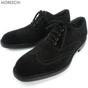 MORESCHI モレスキー  紳士靴 ビジネスシューズ 39900 スエード ブラック ウィングチップ イタリア製  アウトレット|pre-ma