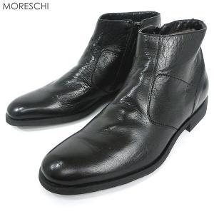 MORESCHI モレスキー ローカット ブーツ 40322 サイドジップ・ボア仕様 ブラック メンズ  イタリア製 在庫品アウトレット|pre-ma