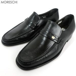 MORESCHI モレスキー  紳士靴 ローファー 21942 ブラック  イタリア製  アウトレット|pre-ma