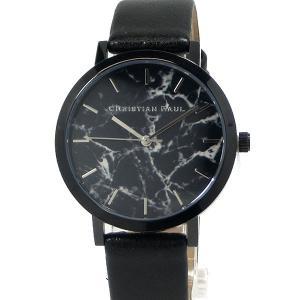 クリスチャンポール レディース 腕時計 MRL-01 35mm ブラック/ブラック マーブル Elwood CHRISTIAN PAUL 在庫セール pre-ma