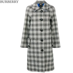 BURBERRY LONDON バーバリー ロンドン ロングコート 8001640 レディース ウール Black White Woman's Checked Collared Coat|pre-ma