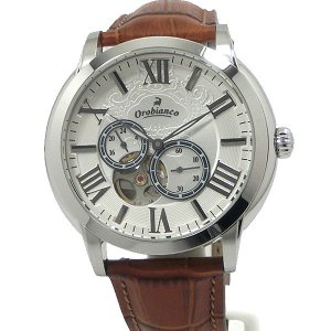 Orobianco オロビアンコ メンズ 腕時計 ROMANTIKO OR-0035-1 自動巻 シルバー/ブラウンレザー 新品アウトレット|pre-ma